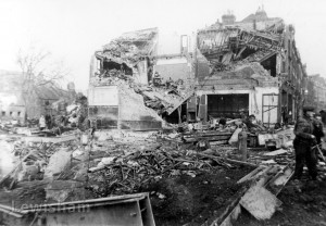 Bomb damage to Woolworth's, New Cross