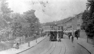 Lee High Road (1st Tram Week) Showing Blessington Road On The Right