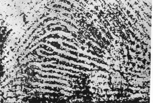 Farrow murder 1905 – thumbprint of Alfred Stratton used at his trial