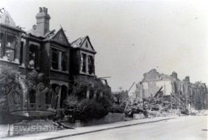 Bomb damage in Shell Road