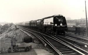 "Lewisham Station with ""Golden Arrow"""