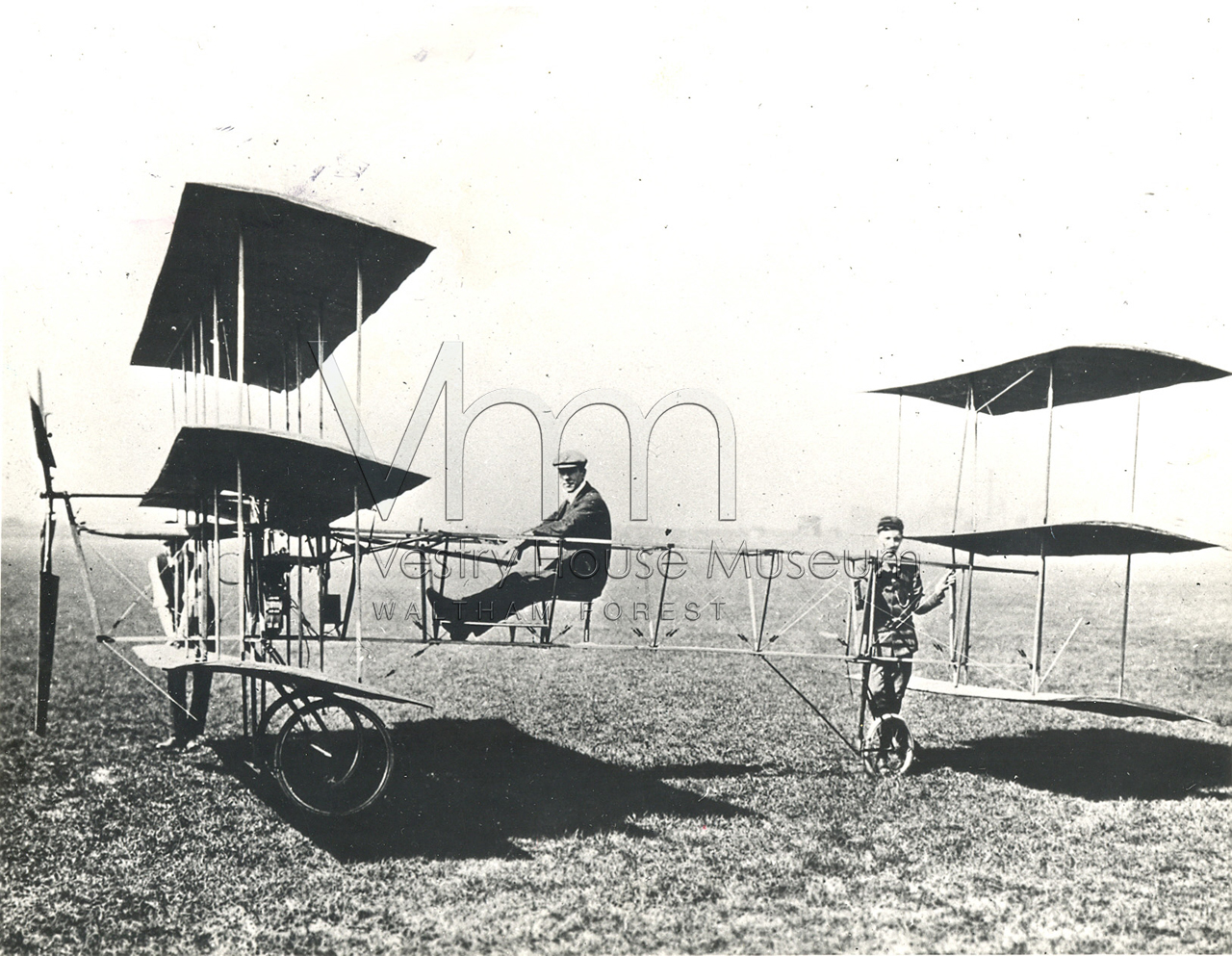 Roe 1 Triplane 1909 on Lea.Walthamstow marshes