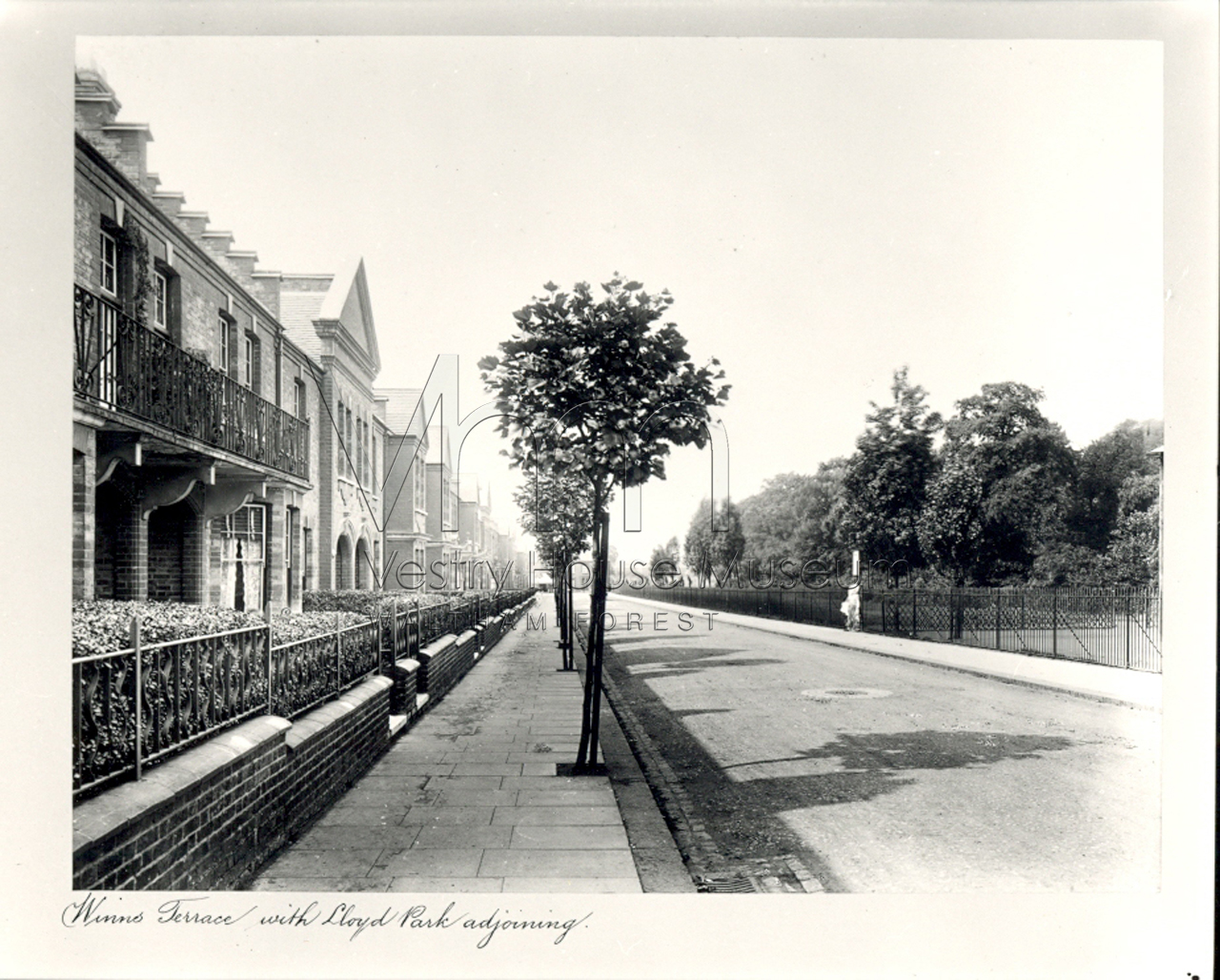 Winns Terrace with Lloyd Park adjoining
