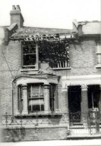 Bomb damage Leyton c1916