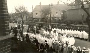 Catholic Procession Northcote Road Walthamstow c1930s