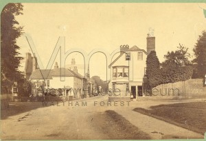 Leyton Green c1846 looking towards the Bakers Arms Capworth Street to the left.