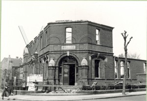 Leyton Police Station Francis Road during demolition in 1939