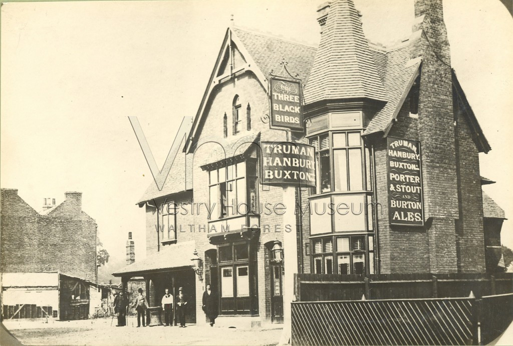 Three Blackbirds Pub, High Road Leyton, after rebuilding