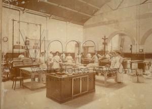 Whipps Cross Hospital kithen staff preparing meals c1913