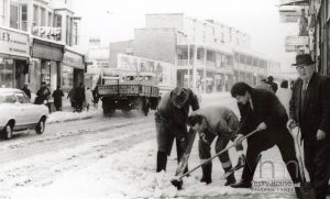 Clearing Snow on Hoe Street, 1968