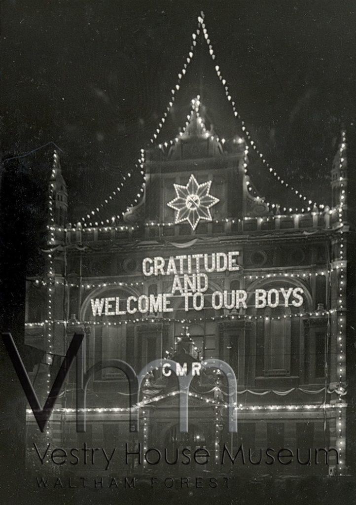 Leyton Town Hall, Christmas 1918