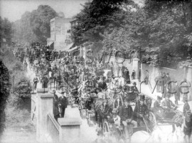 Totterdown Street, carriages returning from Epsom on Derby Day-  C1895