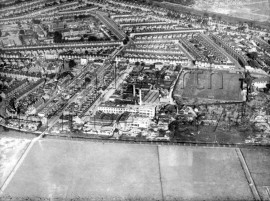 Lydden Grove, Earlsfield Road, Garratt Lane, Bendon Valley and Lydden Road, with Earlsfield Football Ground and Columbia Gramophone Works  1935- 1935