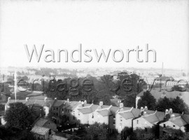 View of Earlsfield from the roof of Wandsworth Fire Station-  1930s