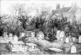Mount Nod Burial Ground, East Hill  –  C1875