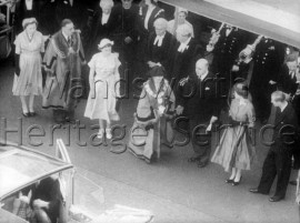 Mayors of Battersea and Camberwell being presented to the Queen and Duke of Edinburgh- 1953
