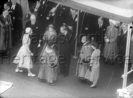 Mayors of Battersea, Camberwell and Wandsworth with the Queen and Duke of Edinburgh- 1953