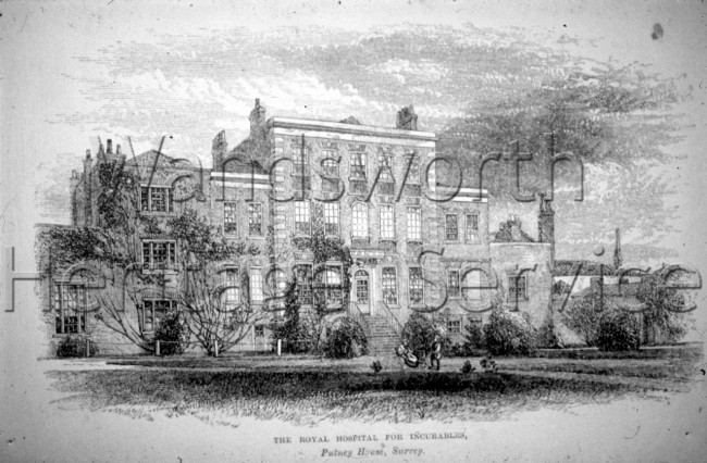 Royal Hospital and Home for Incurables, West Hill  –  C1860