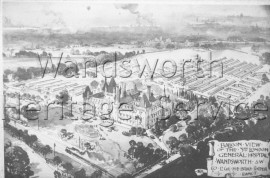 Third London General Hospital, balloon view-  C1915