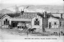 West-end and Crystal Palace Railway Station (Queenstown Road)  –  C1850