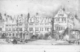 Battersea Polytechnic, Battersea Park Road ink-photo- 1892