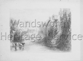 Middle Mill, River Wandle, –  C1850