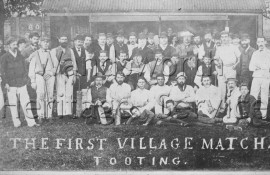 Tooting: first village cricketmatch- 1878