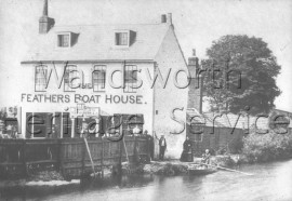 Feathers Boat House from the river, –  C1871