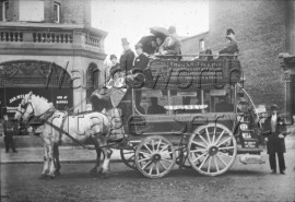 Thomas Tilling's bus, from Clapham Junction to Wimbledon Station, –  C1903