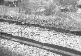 Surrey Iron Railway: track on the Croydon, Merstham and Godstone Branch line- 1959