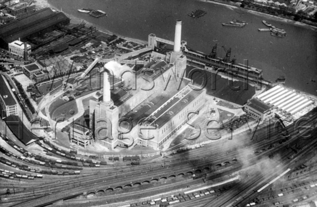 Battersea Power Station construction in process c 1936   – c1936