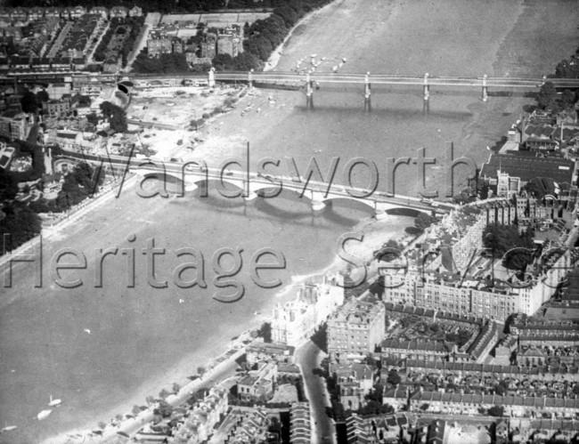 Putney Bridge and Putney Railway Bridge 1930s- c1930