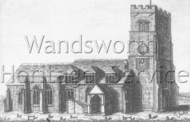 St  Mary the Virgin Church, Putney High Street  –  C1755