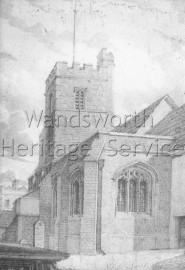 St  Mary the Virgin Church, Putney High Street- 1825