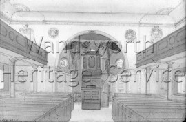 St  Mary's Church, Battersea- 1826