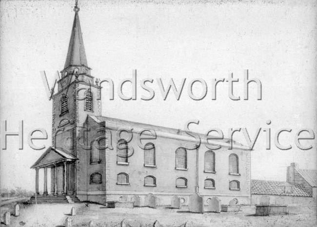 St  Mary's Church, Battersea- 1796