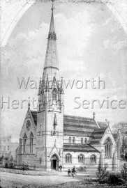 St  Paul's proposed church, St  John's Hill, New Wandsworth- c1868