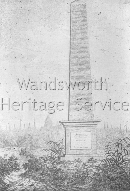 Obelisk, Putney Heath  –  C1795