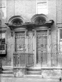 Shell doorways to nos 84 and 86, Putney High Street- 1879