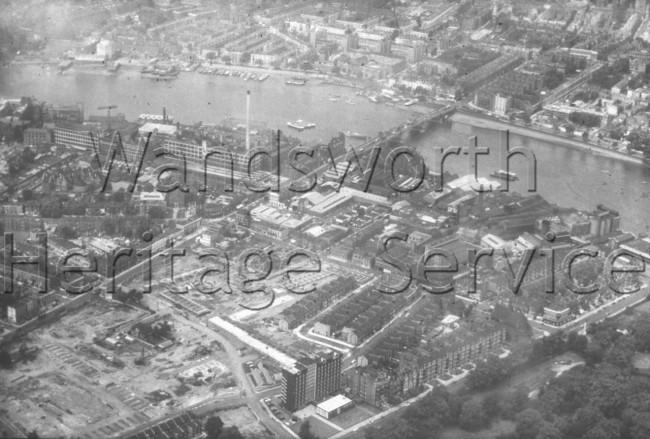 Thames, east of Albert Bridge- 1963