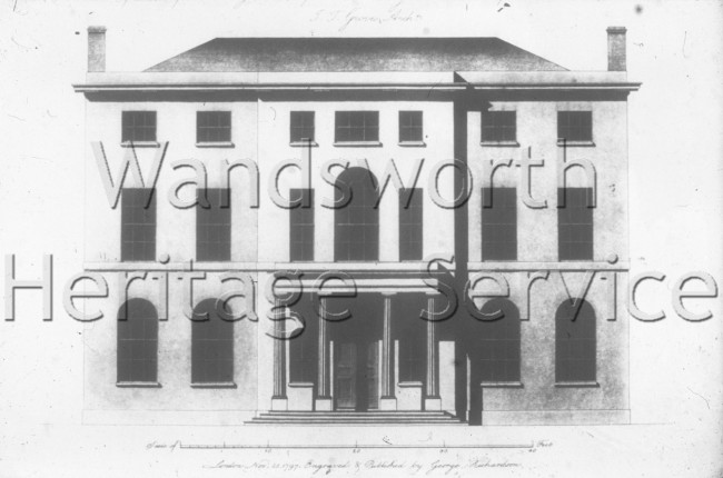 Broomfield Lodge, Clapham Common West Side- 1797