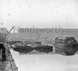 Barges on the River Wandle